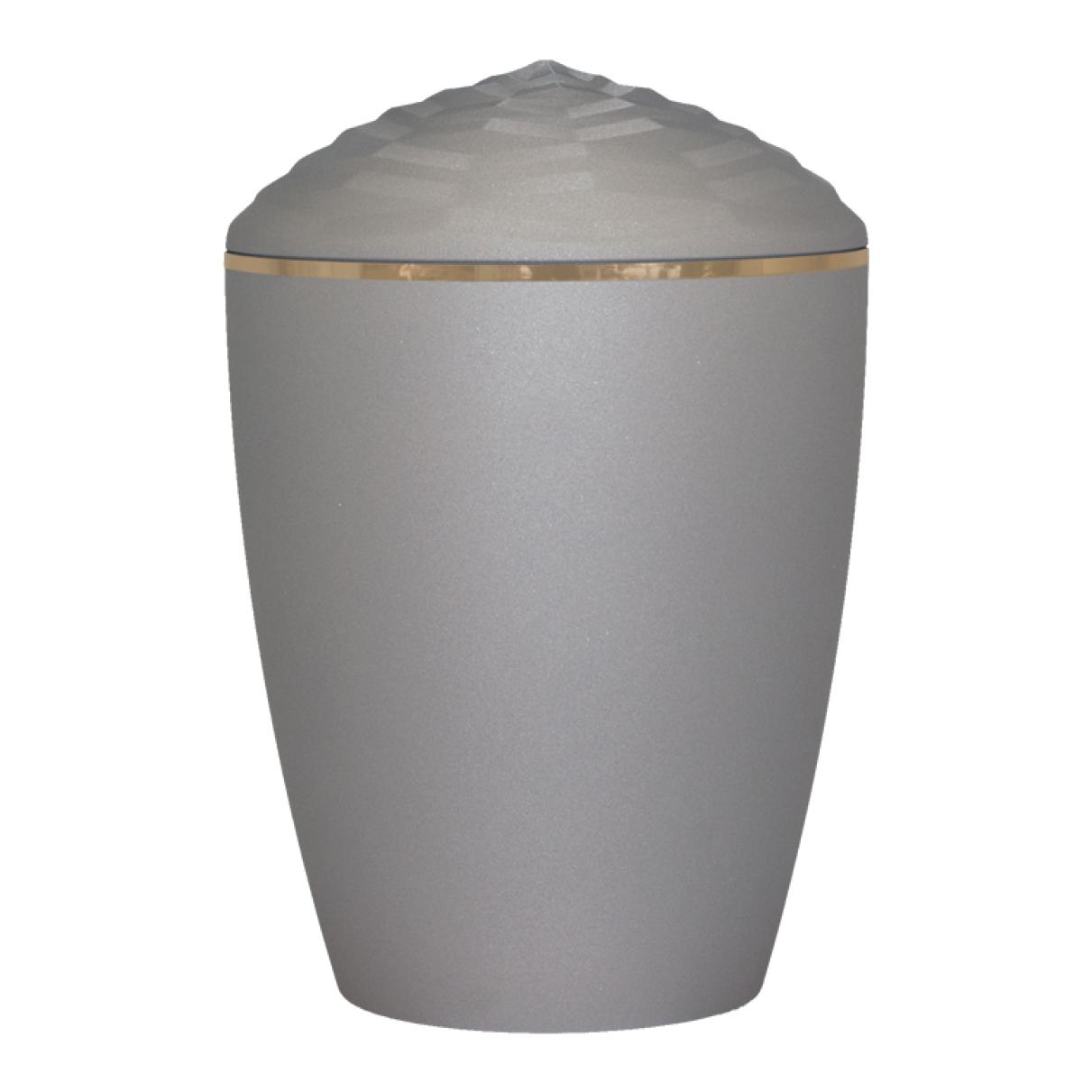 Forest Gold Band Bio Cremation Urn – Velvet Grey