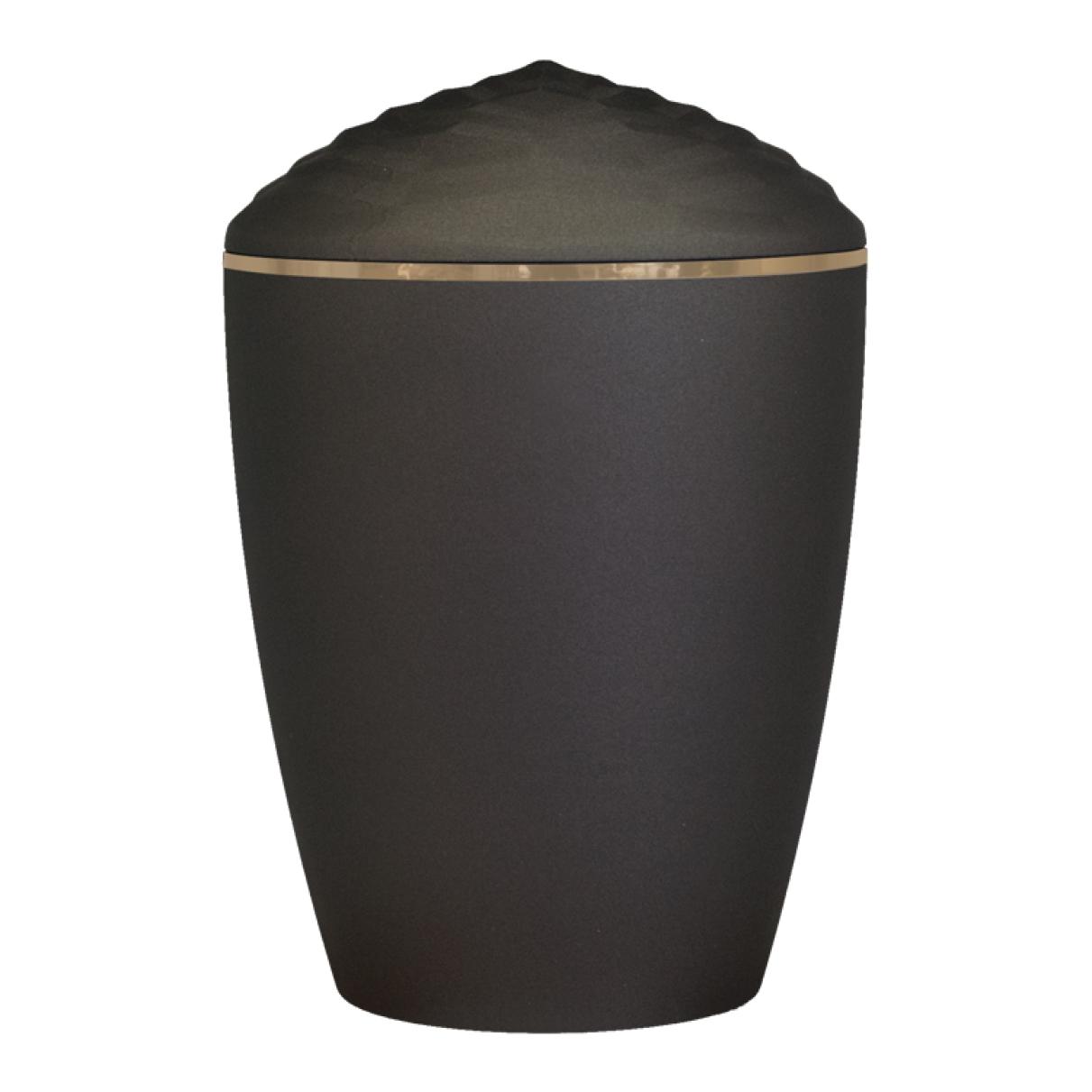 Forest Gold Band Bio Cremation Urn – Black