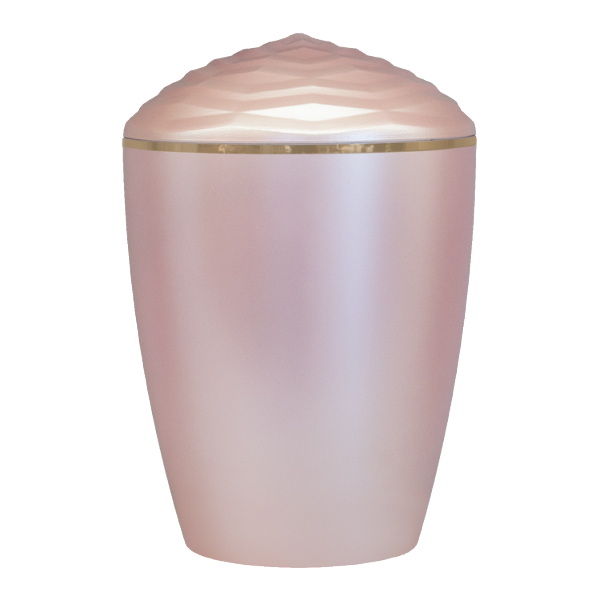 Forest Gold Band Bio Cremation Urn – Rose