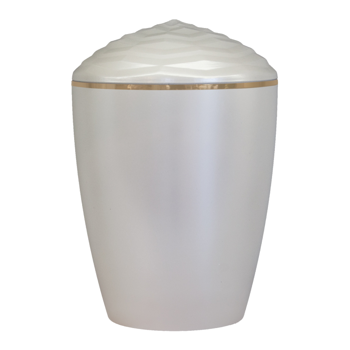 Forest Gold Band Bio Cremation Urn – Pearl