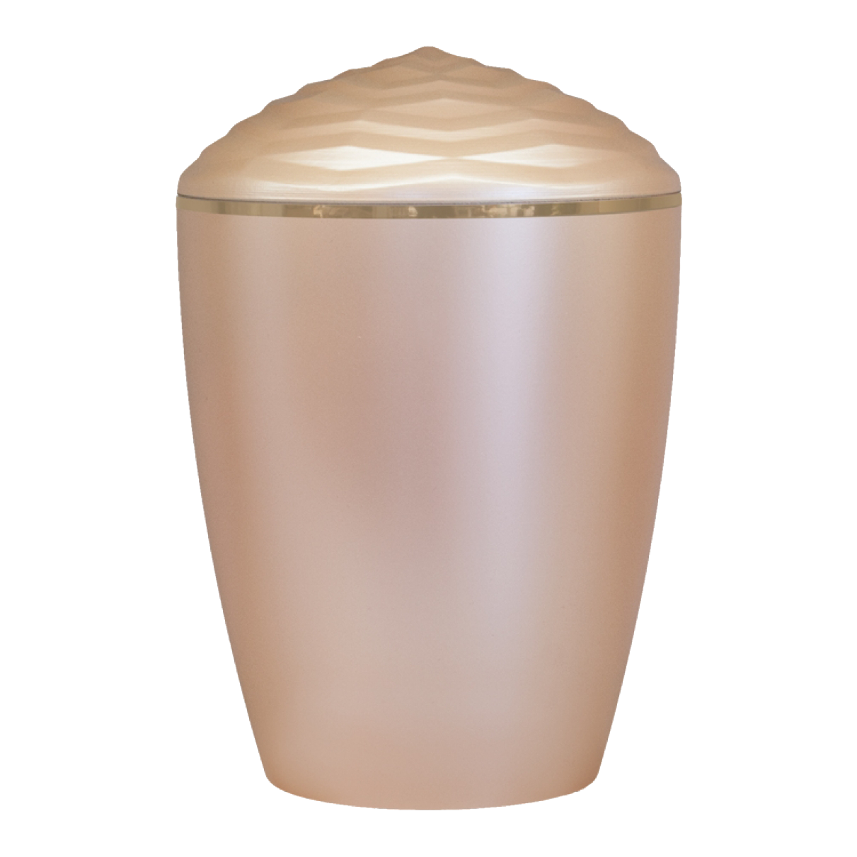 Forest Gold Band Bio Cremation Urn – Beige