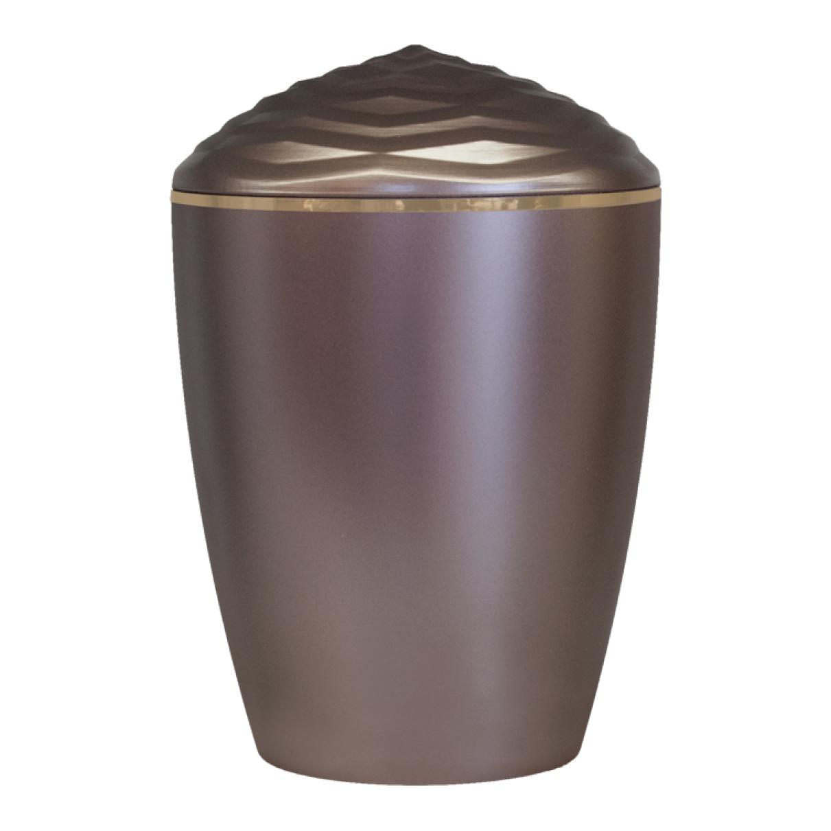Forest Gold Band Bio Cremation Urn – Dark Rose