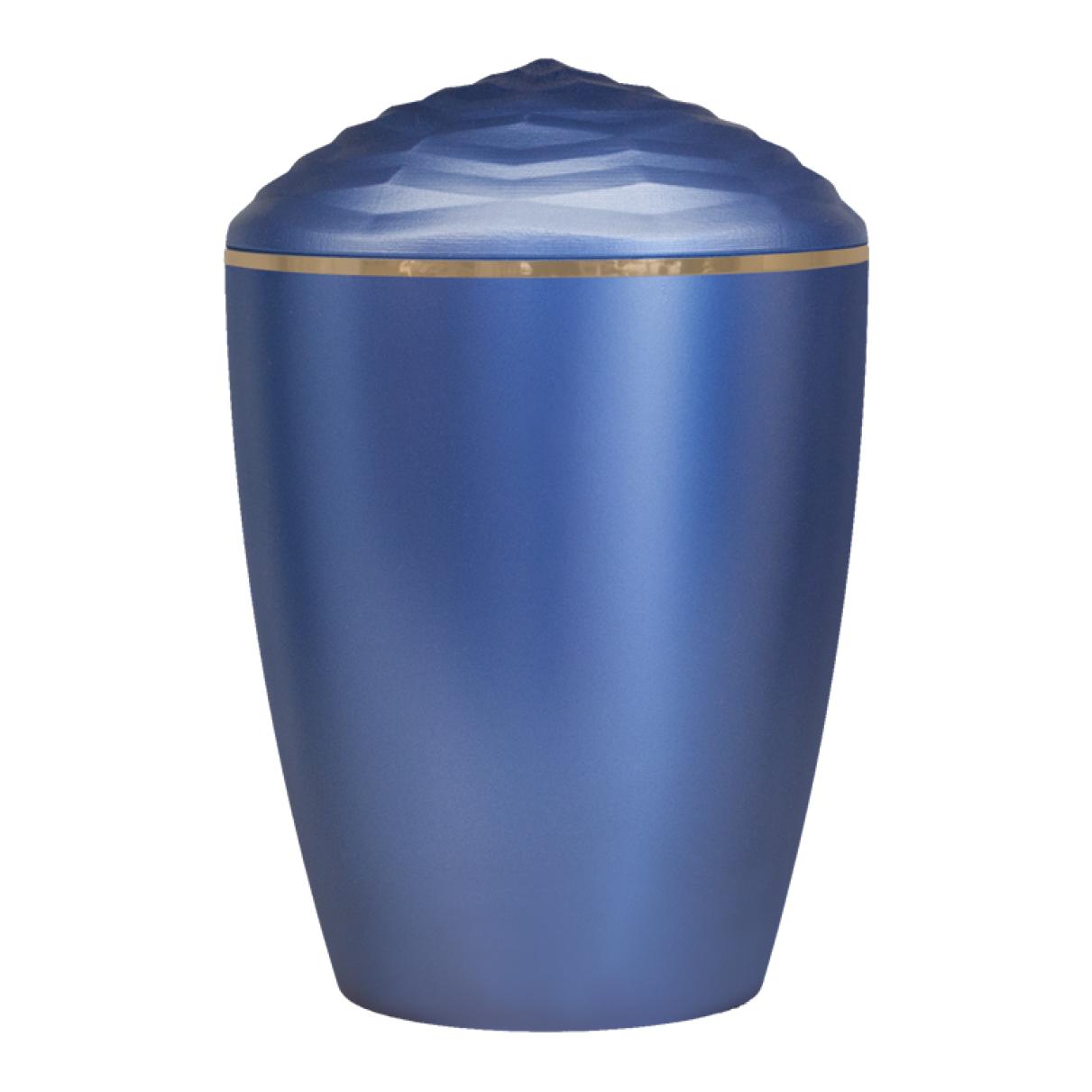 Forest Gold Band Bio Cremation Urn – Dark Blue