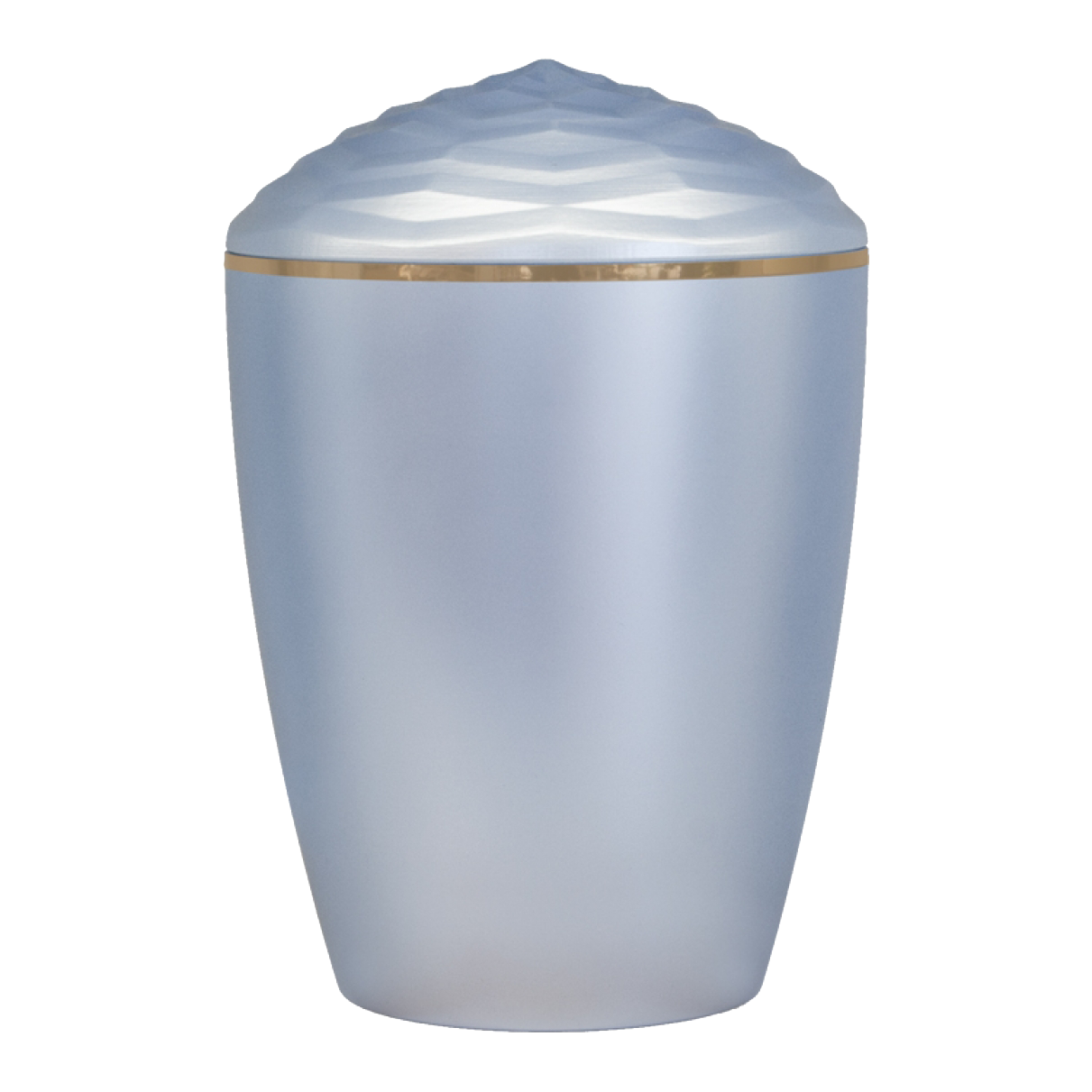 Forest Gold Band Bio Cremation Urn – Light Blue