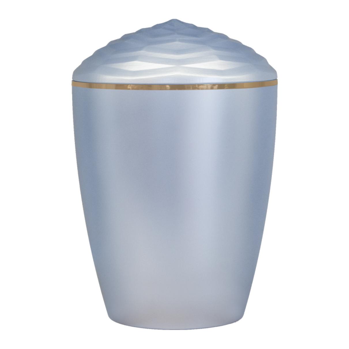 Forest Gold Band Bio Cremation Urn – Light Blue