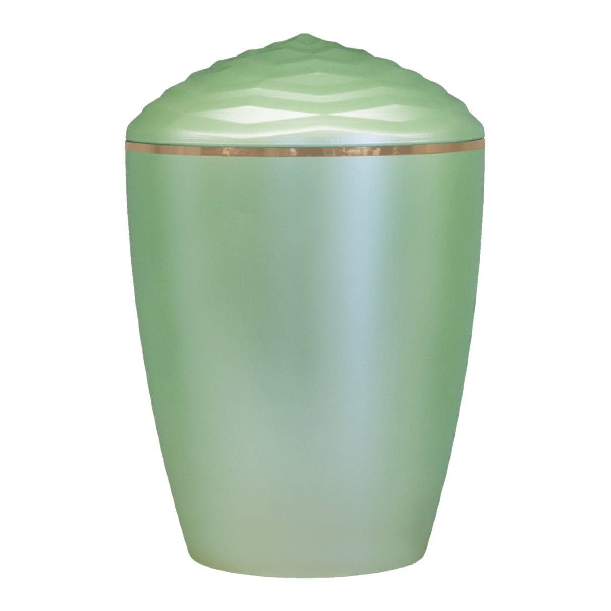 Forest Gold Band Bio Cremation Urn – Light Green