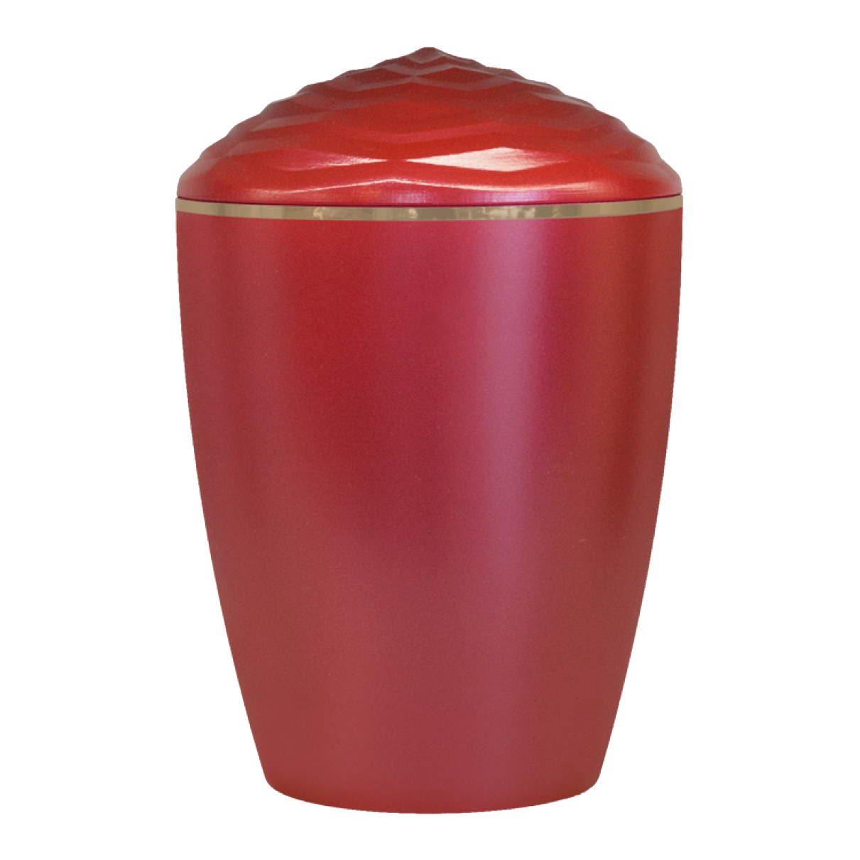 Forest Gold Band Bio Cremation Urn – Red