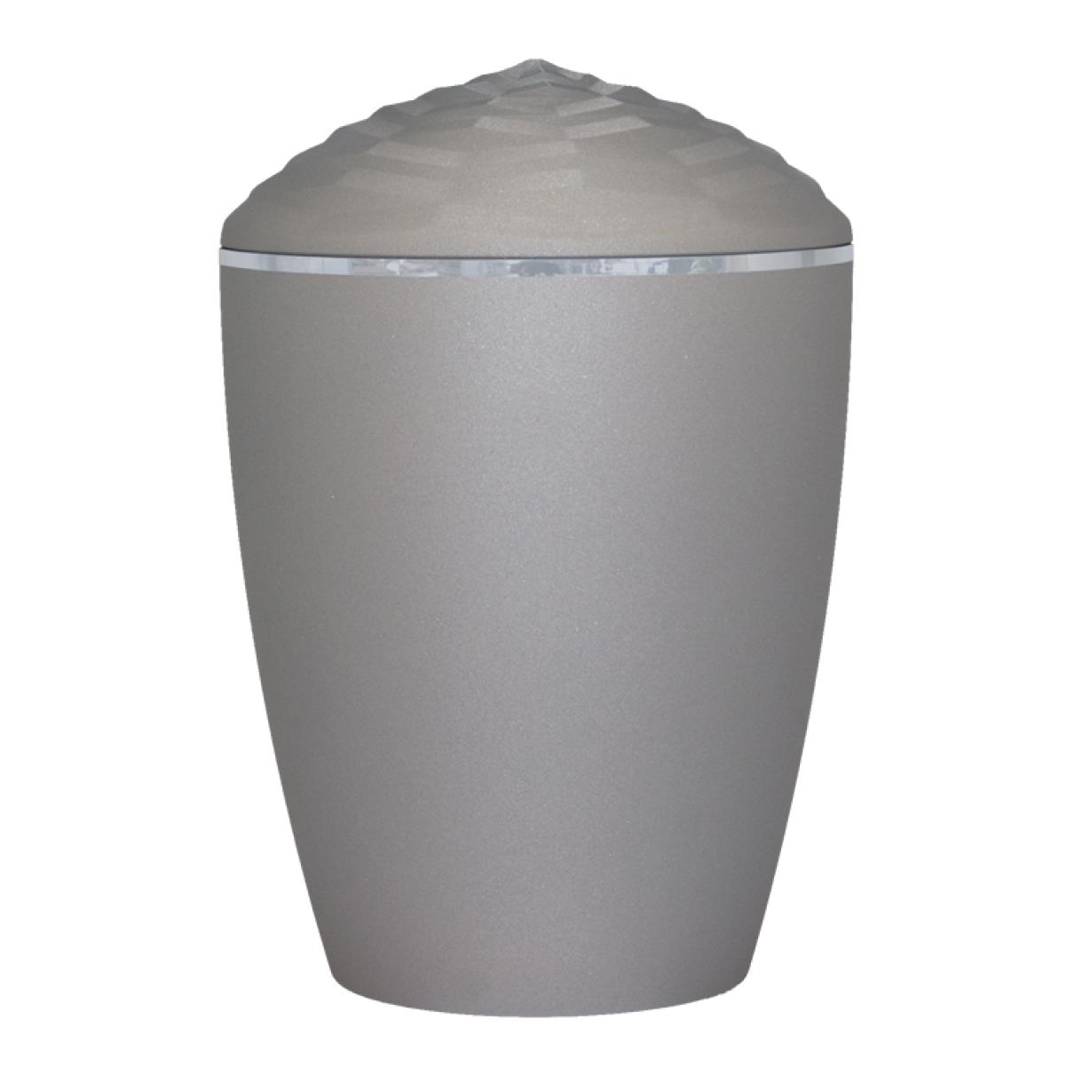 Forest Silver Band Bio Cremation Urn – Velvet Grey