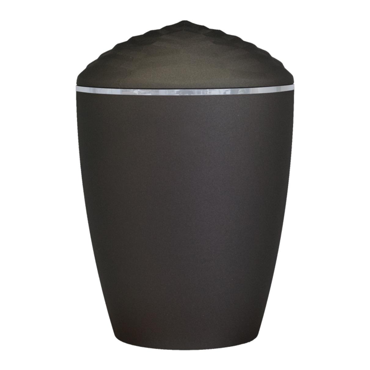 Forest Silver Band Bio Cremation Urn – Black
