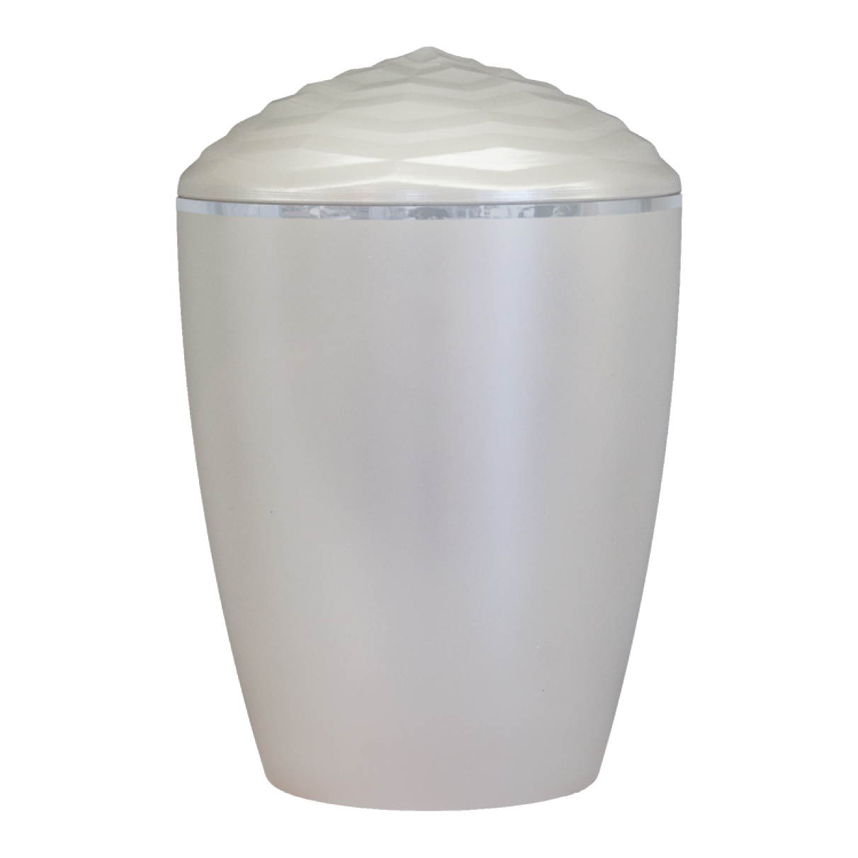 Forest Silver Band Bio Cremation Urn – Pearl