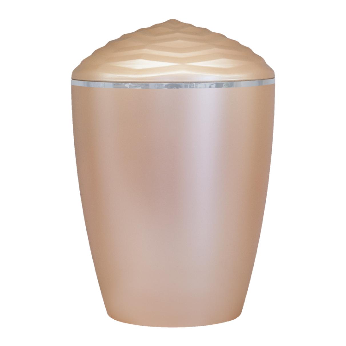 Forest Silver Band Bio Cremation Urn – Beige