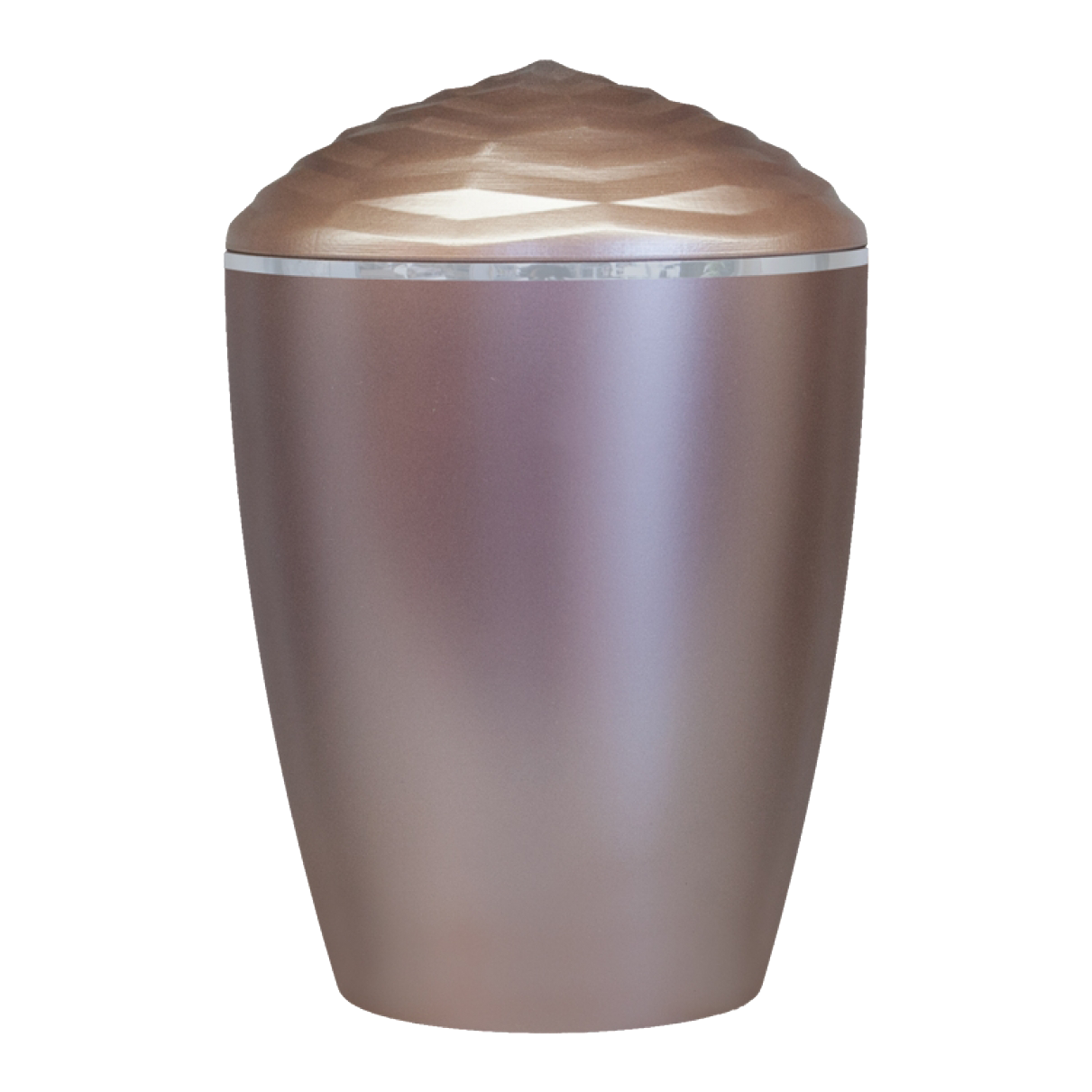 Forest Silver Band Bio Cremation Urn – Taupe