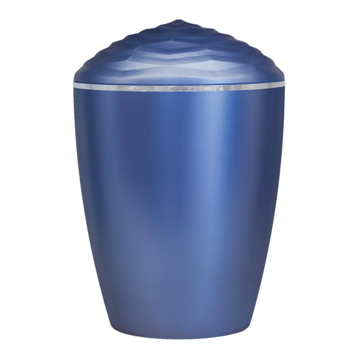 Forest Silver Band Bio Cremation Urn – Dark Blue