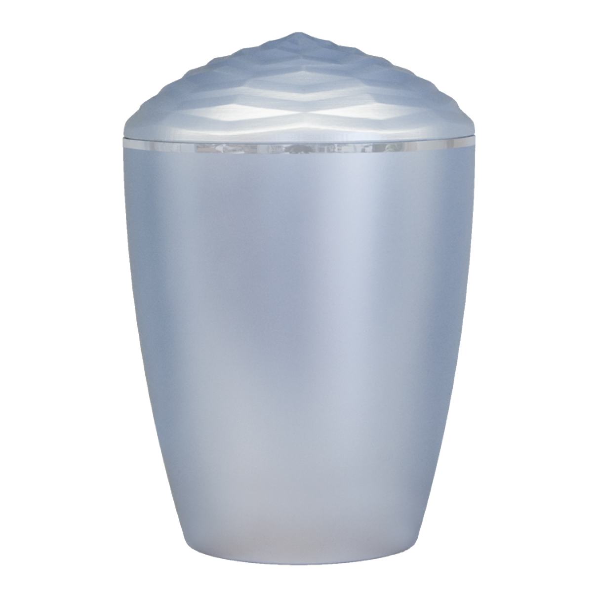 Forest Silver Band Bio Cremation Urn – Light Blue