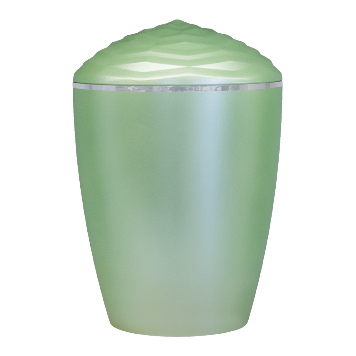 Forest Silver Band Bio Cremation Urn – Light Green