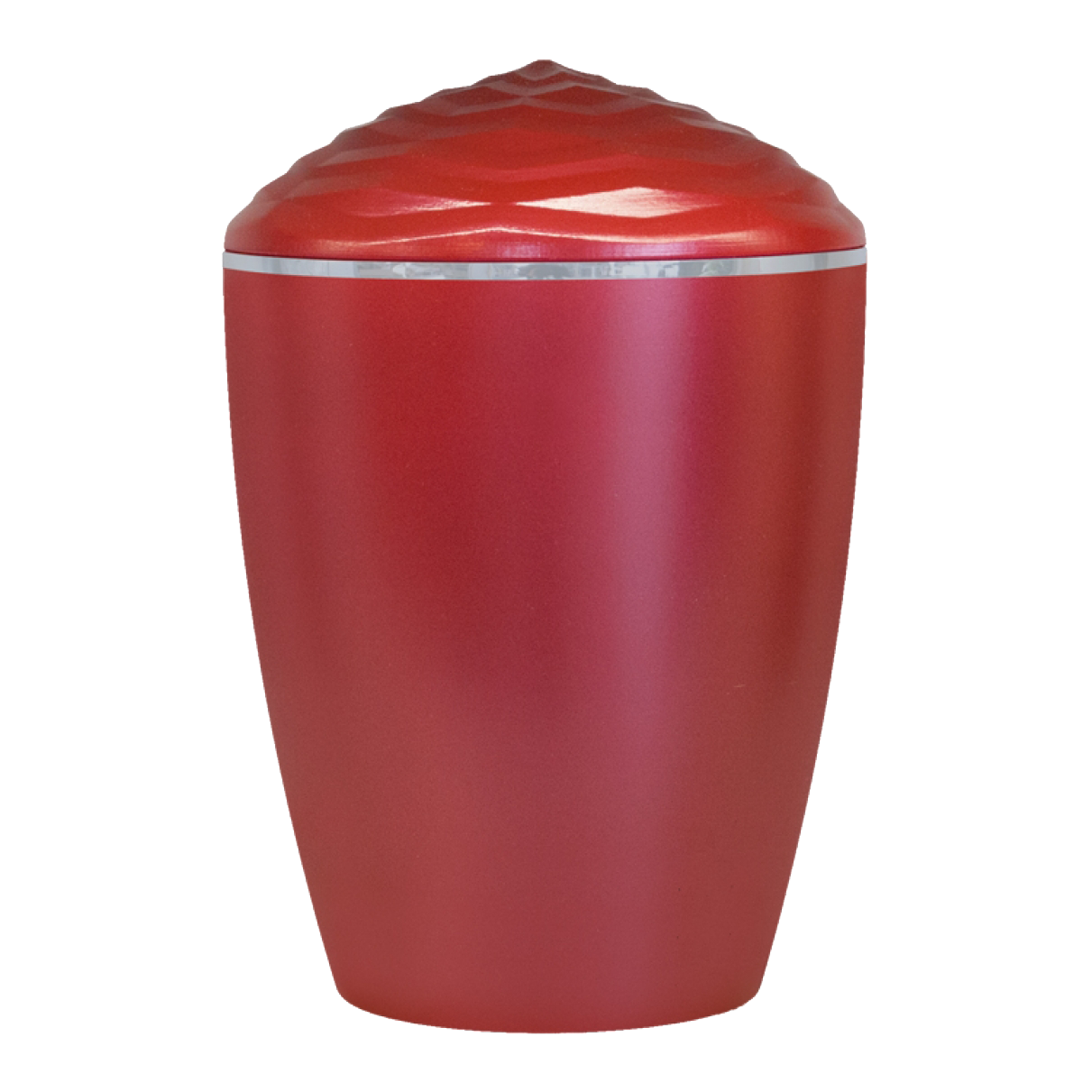 Forest Silver Band Bio Cremation Urn –  Red