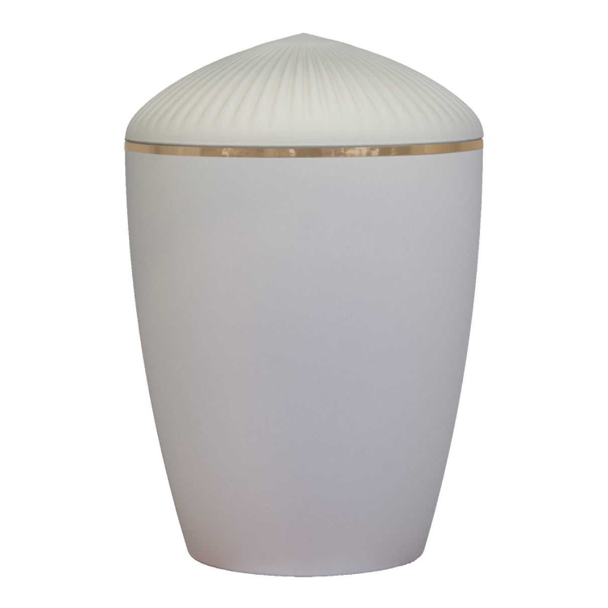 Ferndown Gold Band Cremation Urn – Matt White