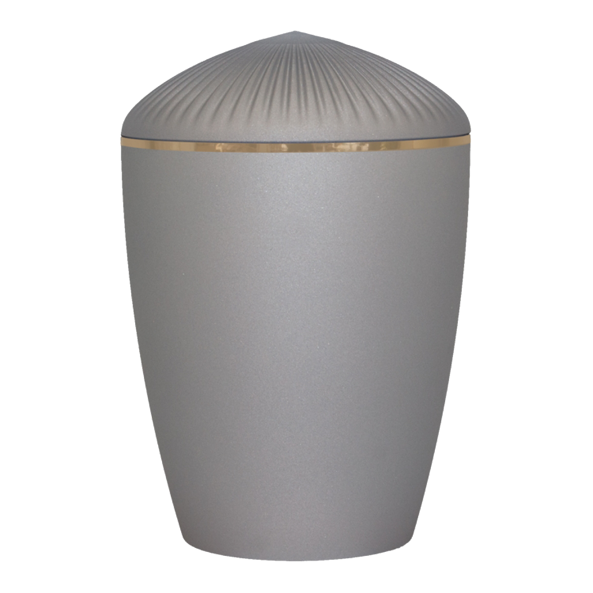 Ferndown Gold Band Cremation Urn – Velvet Grey