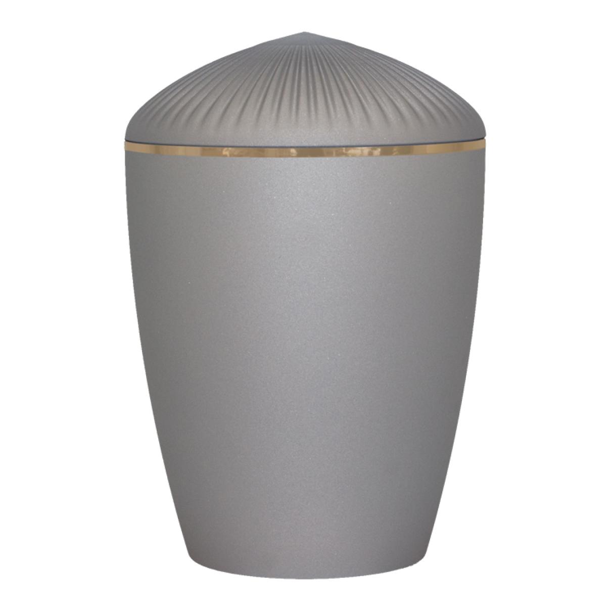 Ferndown Gold Band Cremation Urn – Velvet Grey