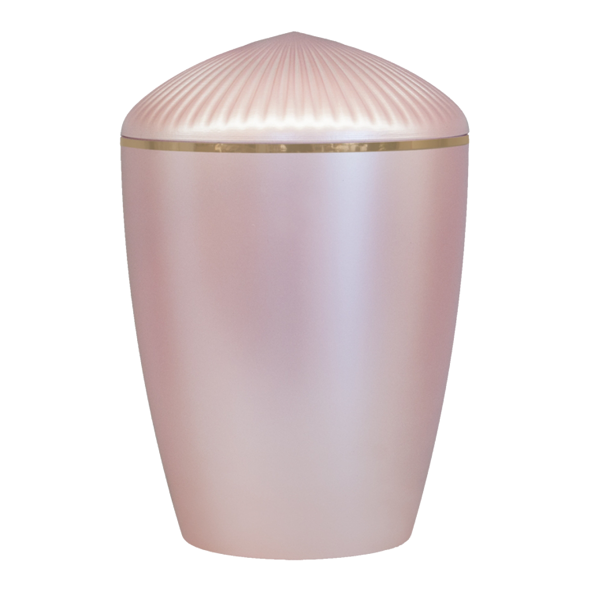 Ferndown Gold Band Cremation Urn – Rose