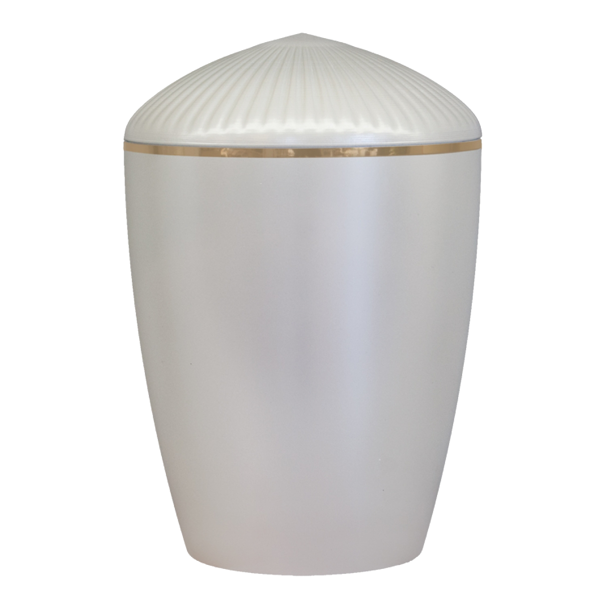 Ferndown Gold Band Cremation Urn – Pearl