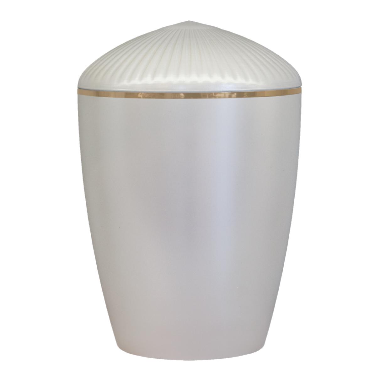 Ferndown Gold Band Cremation Urn – Pearl