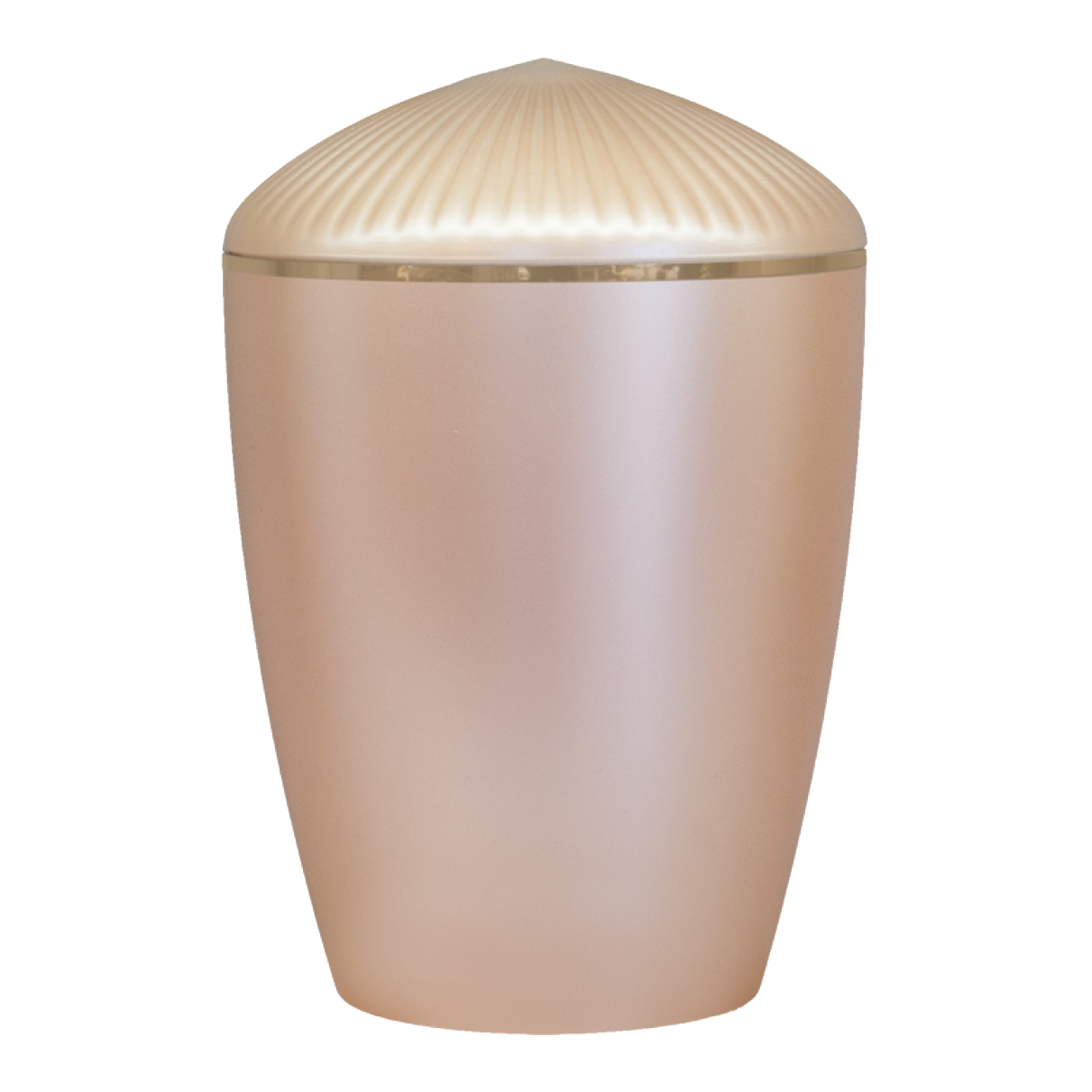 Ferndown Gold Band Cremation Urn – Beige
