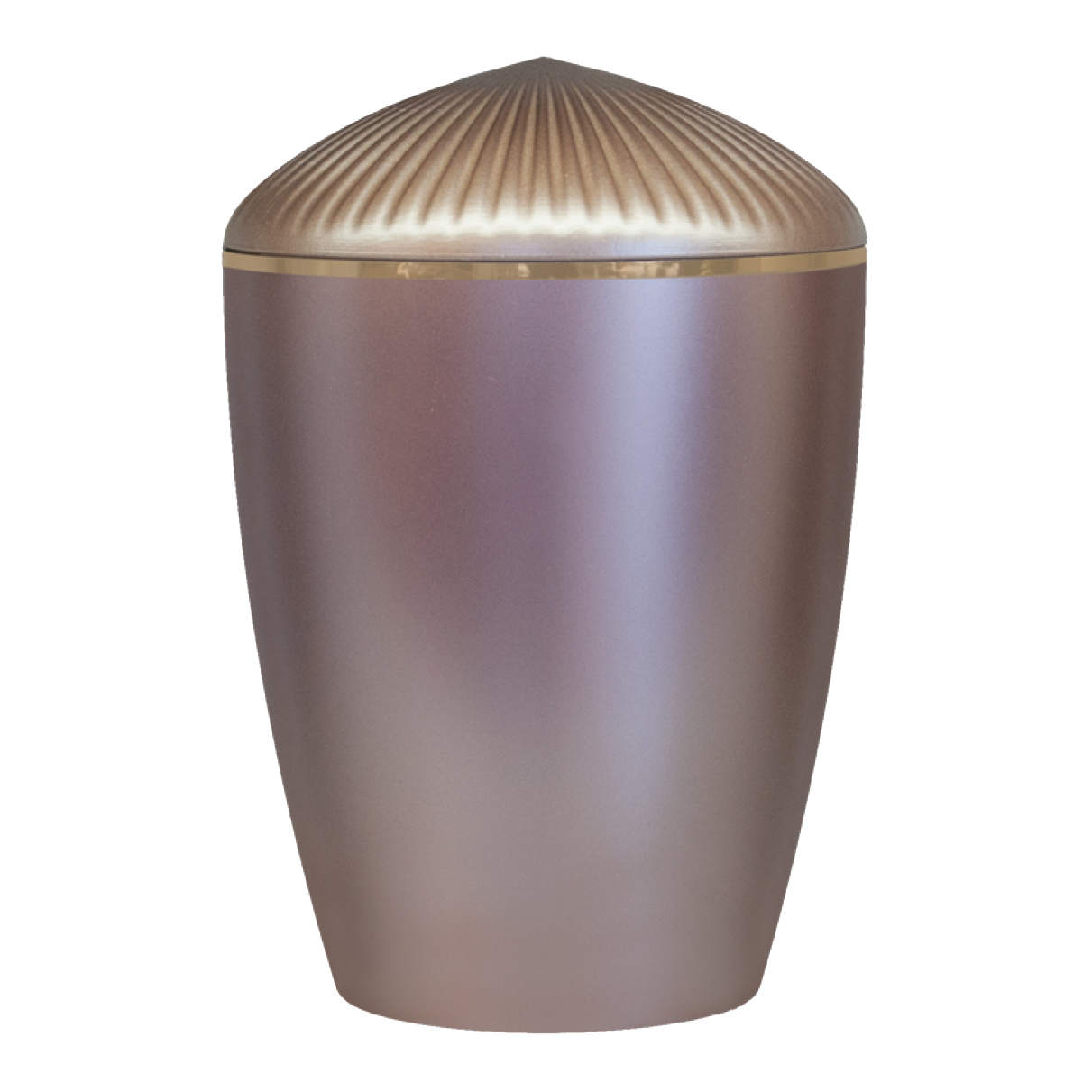 Ferndown Gold Band Cremation Urn – Taupe