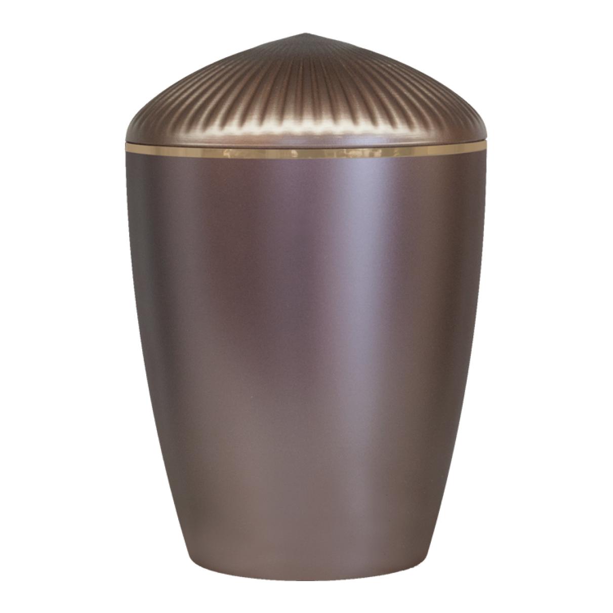 Ferndown Gold Band Cremation Urn – Dark Rose