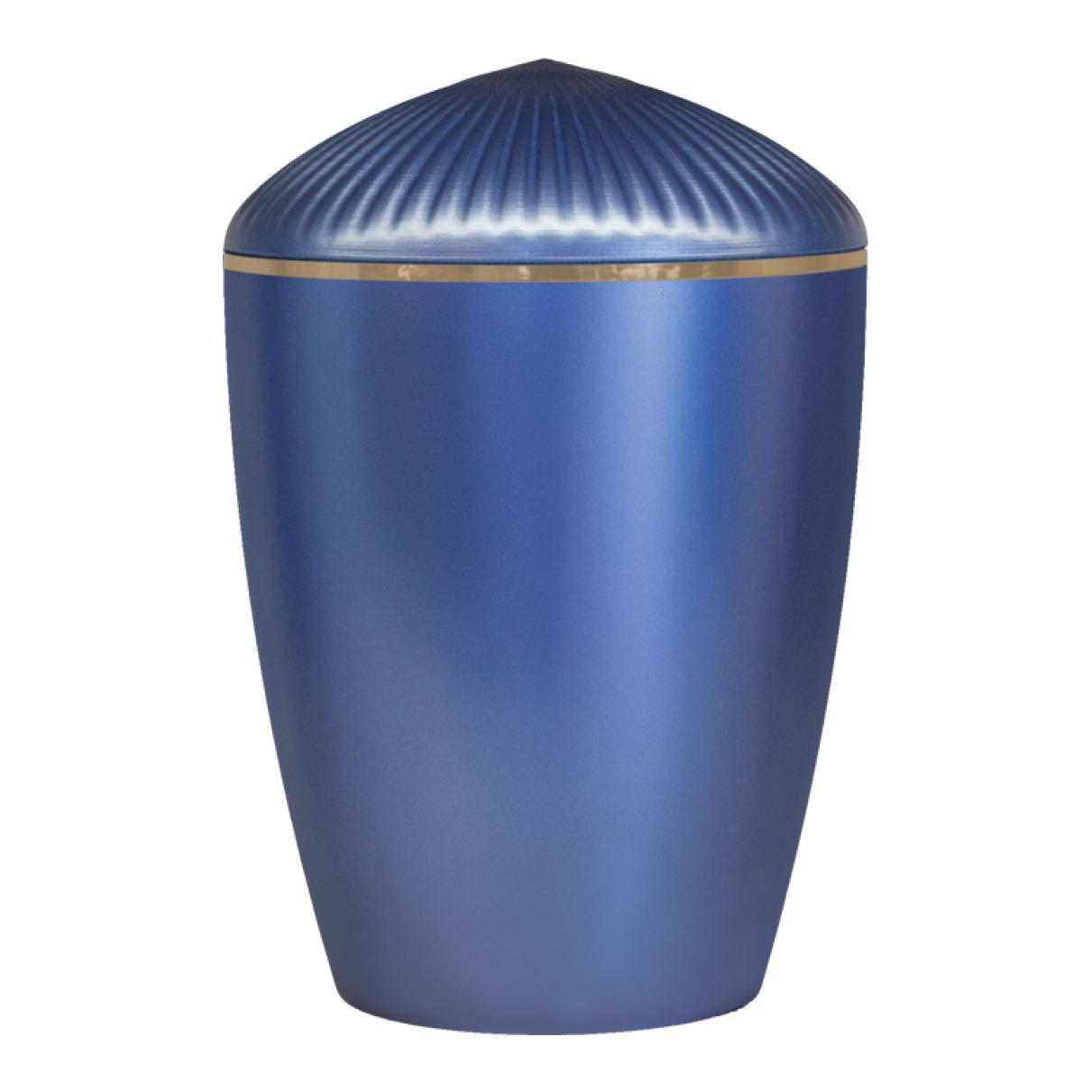 Ferndown Gold Band Cremation Urn – Dark Blue