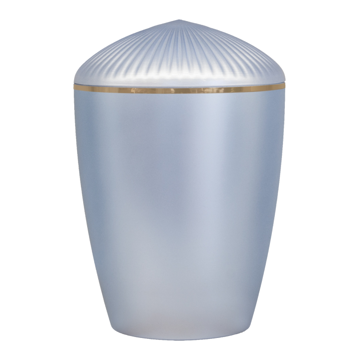 Ferndown Gold Band Cremation Urn – Light Blue