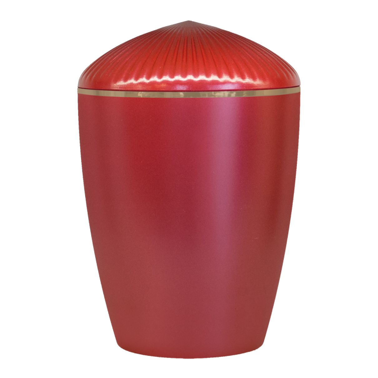 Ferndown Gold Band Cremation Urn – Red