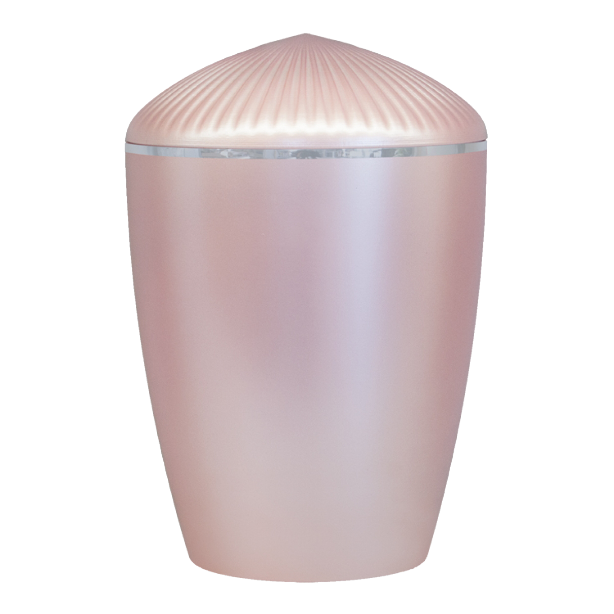 Ferndown Silver Band Cremation Urn – Rose