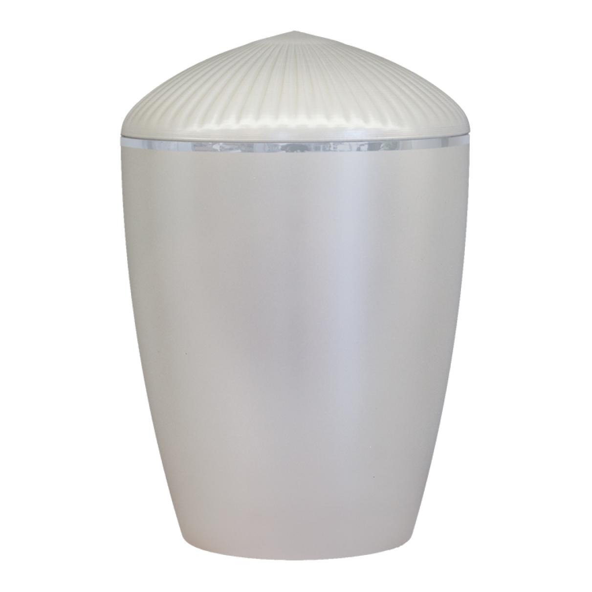 Ferndown Silver Band Cremation Urn – Pearl