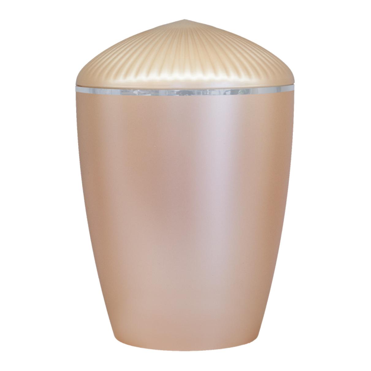 Ferndown Silver Band Cremation Urn – Beige