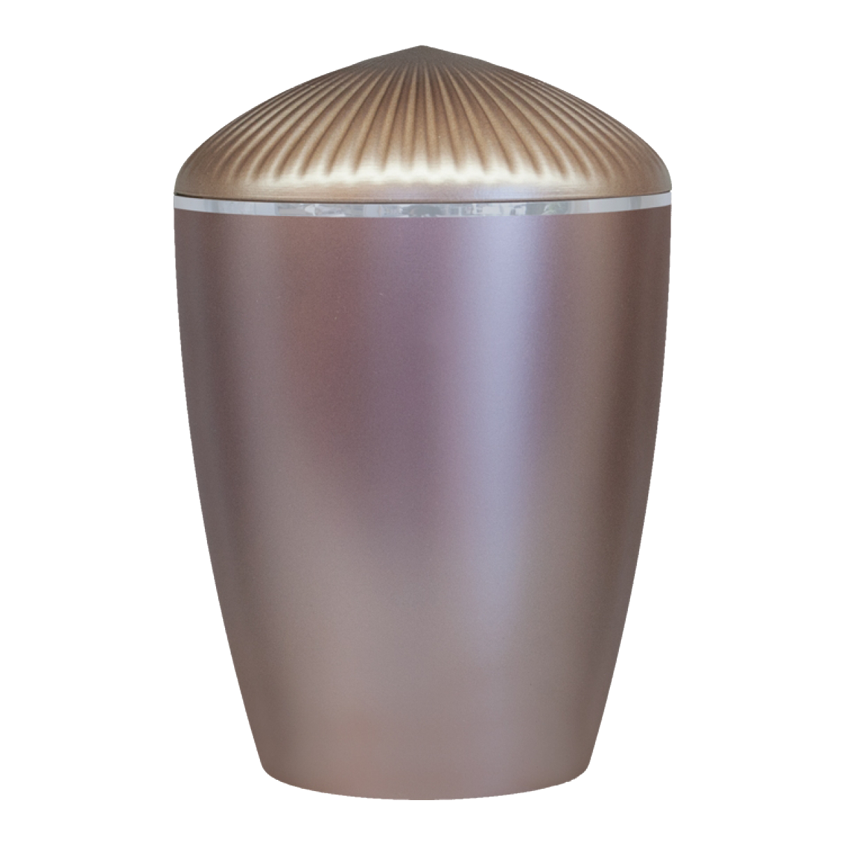 Ferndown Silver Band Cremation Urn – Taupe