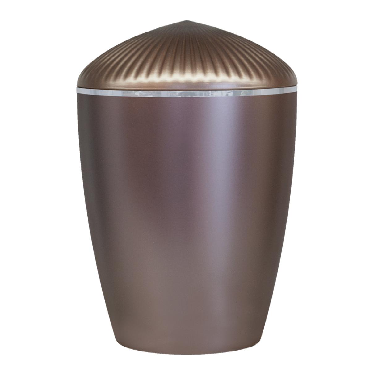 Ferndown Silver Band Cremation Urn – Dark Rose