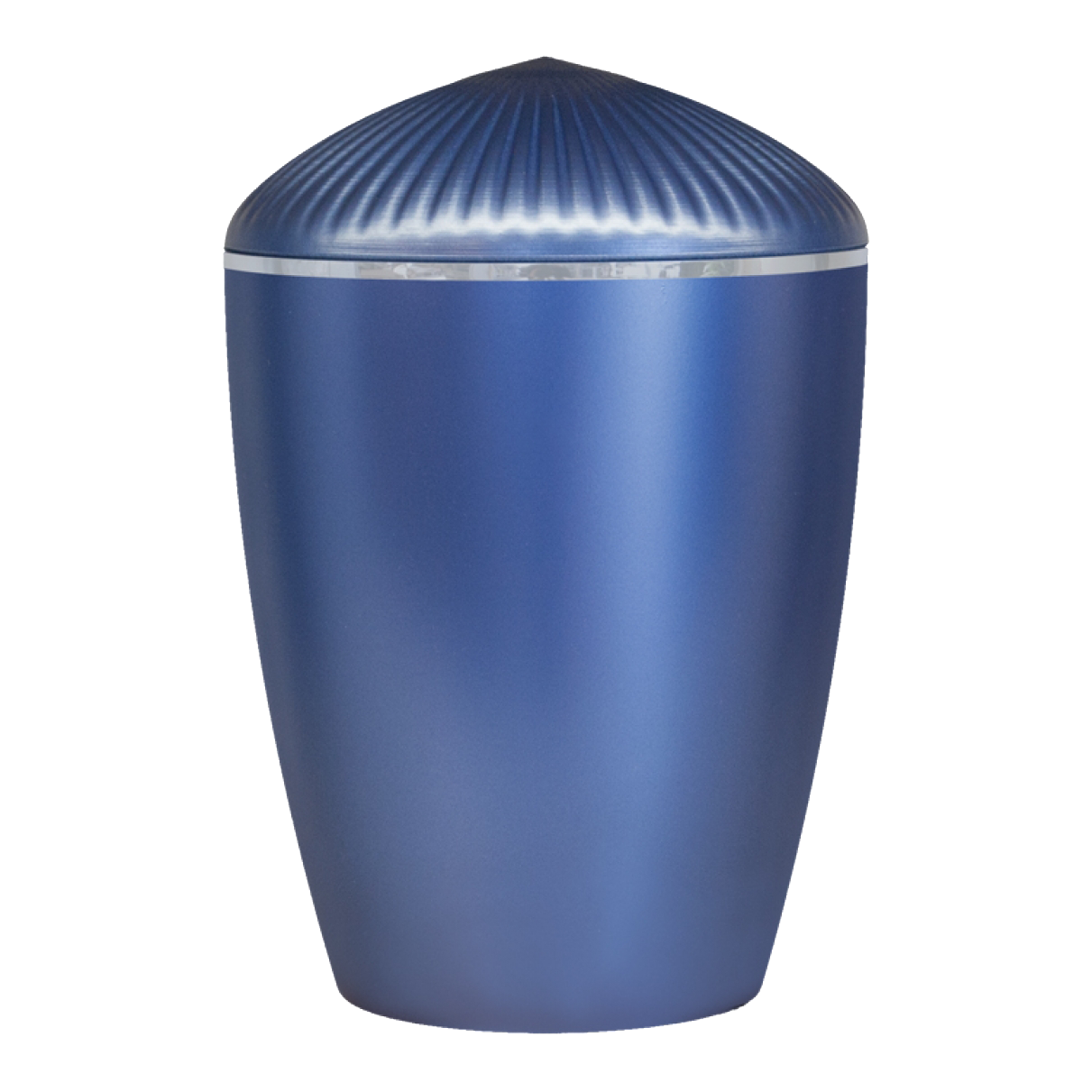 Ferndown Silver Band Cremation Urn – Dark Blue