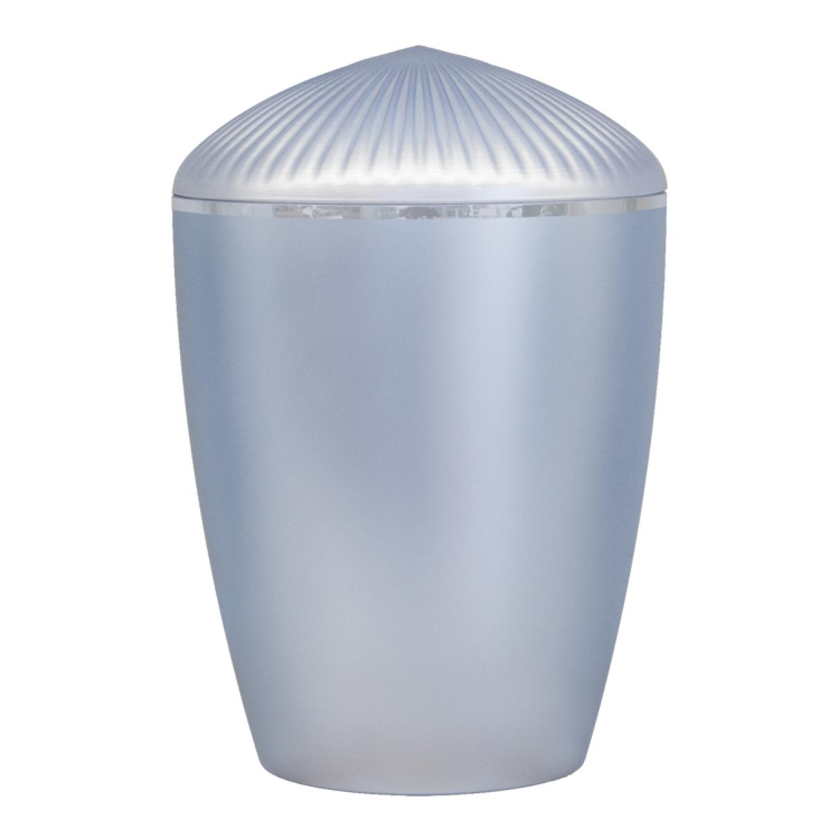 Ferndown Silver Band Cremation Urn – Light Blue