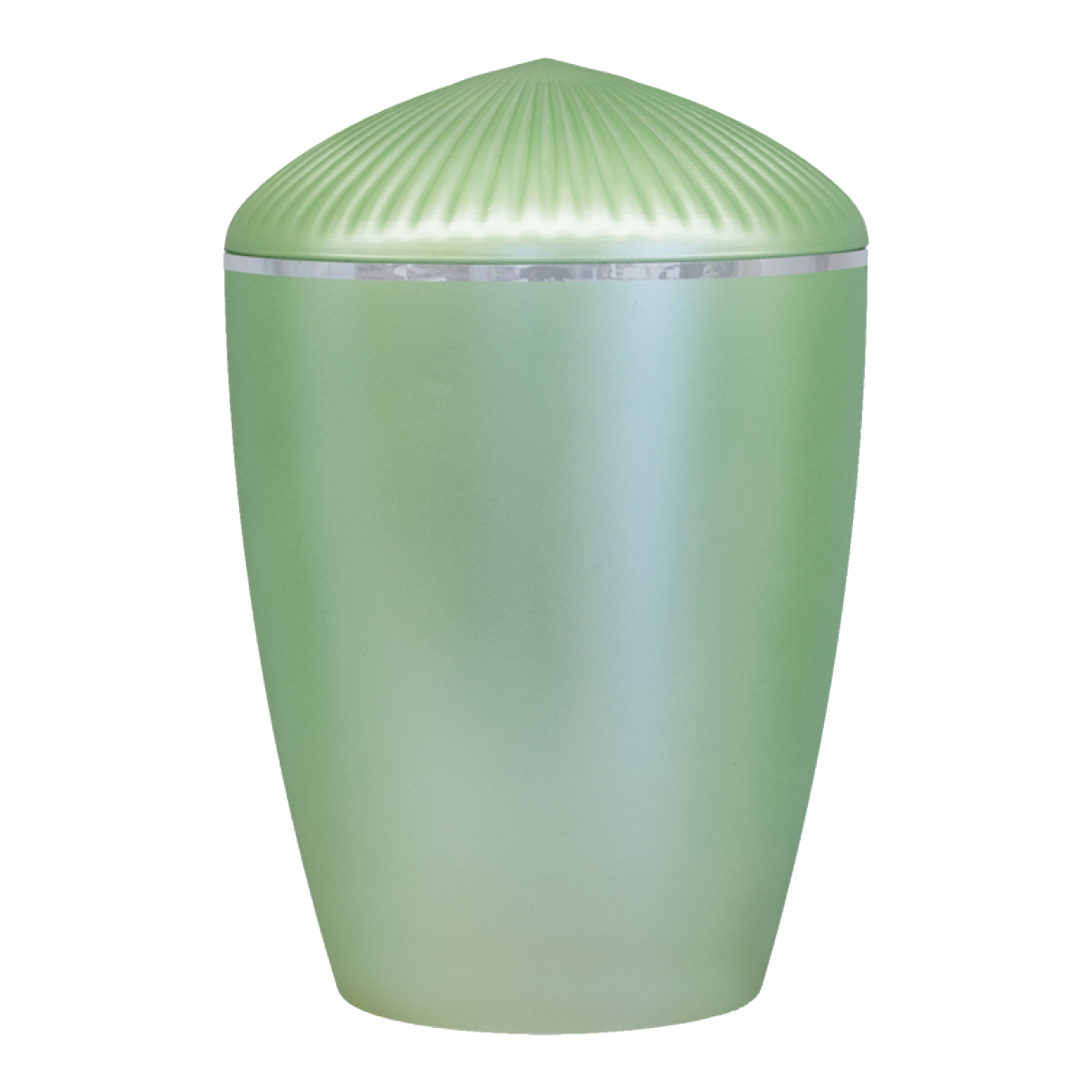 Ferndown Silver Band Cremation Urn – Light Green