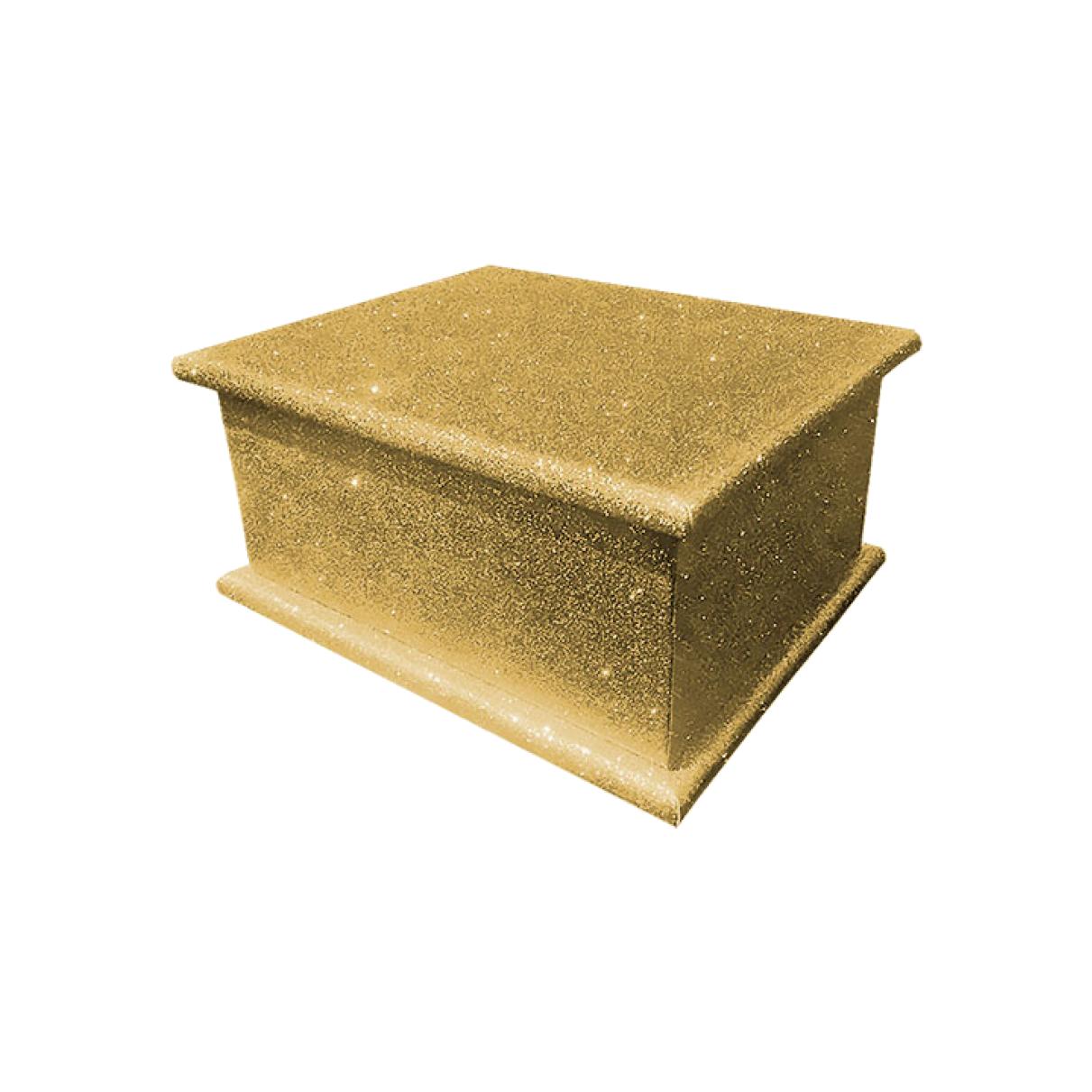 Glitter Adult Ashes Casket – Gold