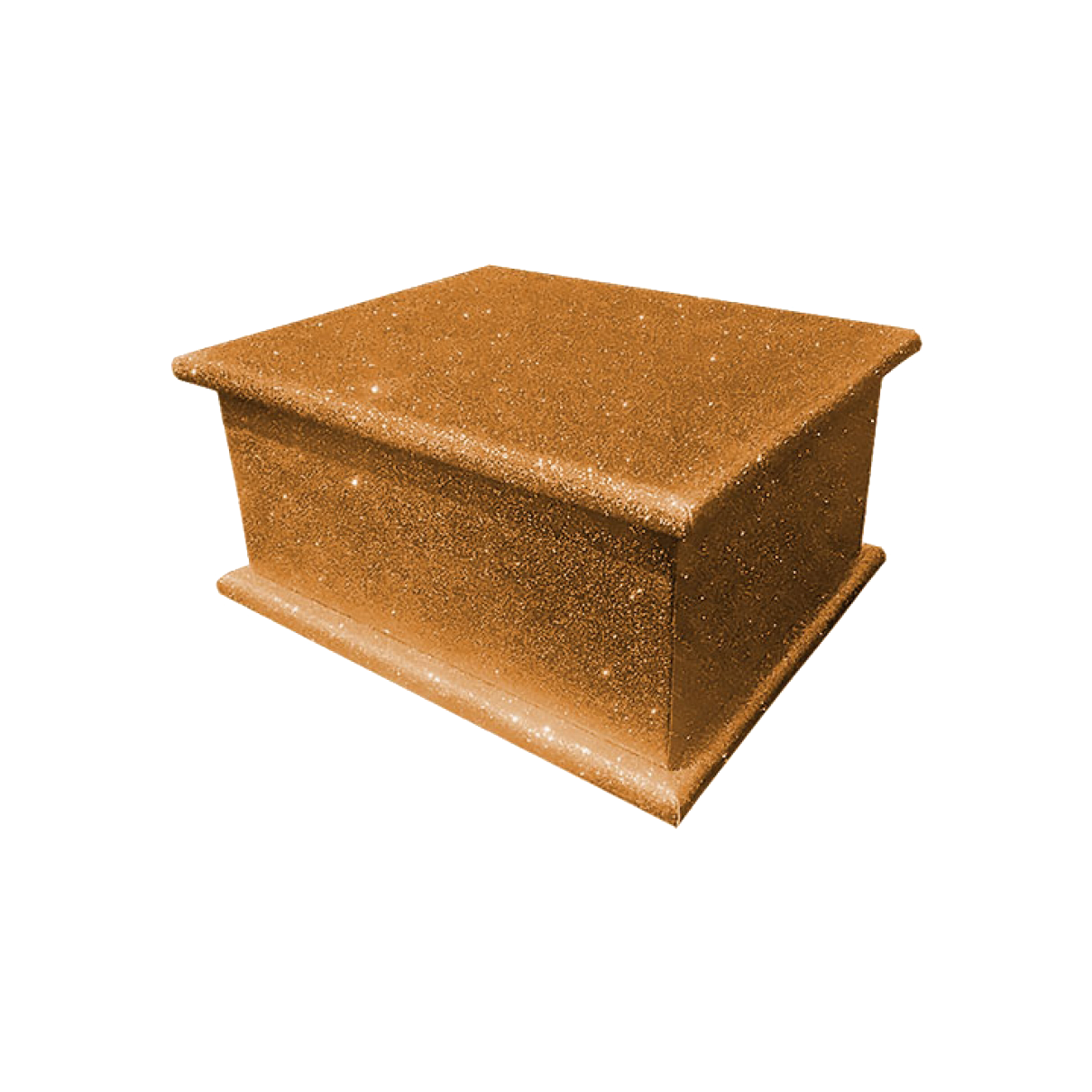 Glitter Adult Ashes Casket – Bronze