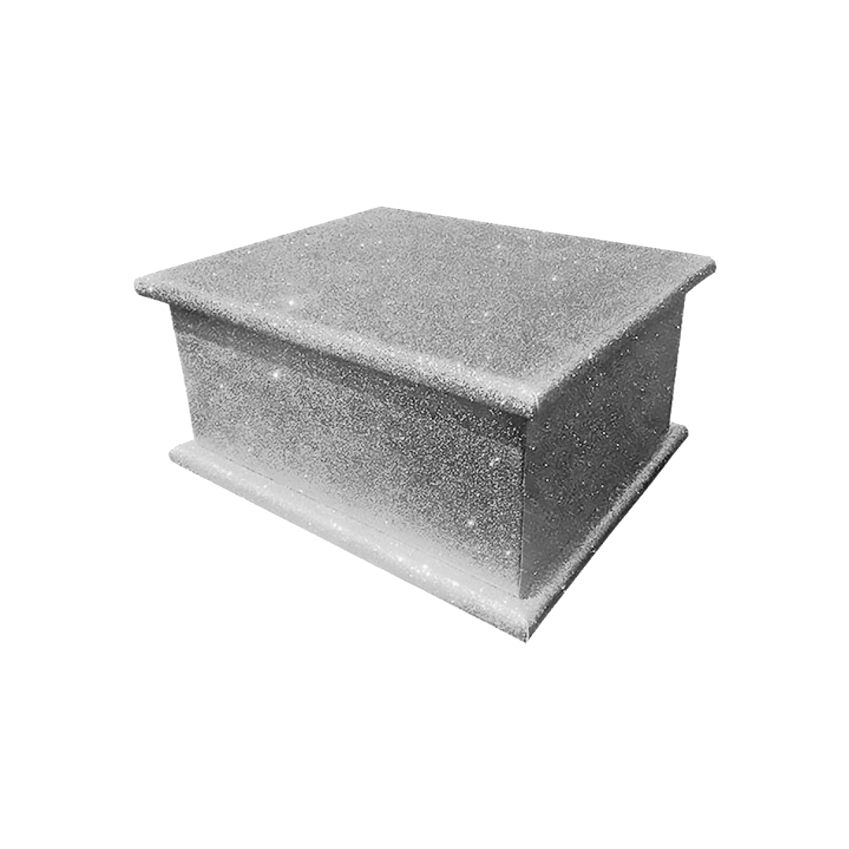 Glitter Adult Ashes Casket – Silver