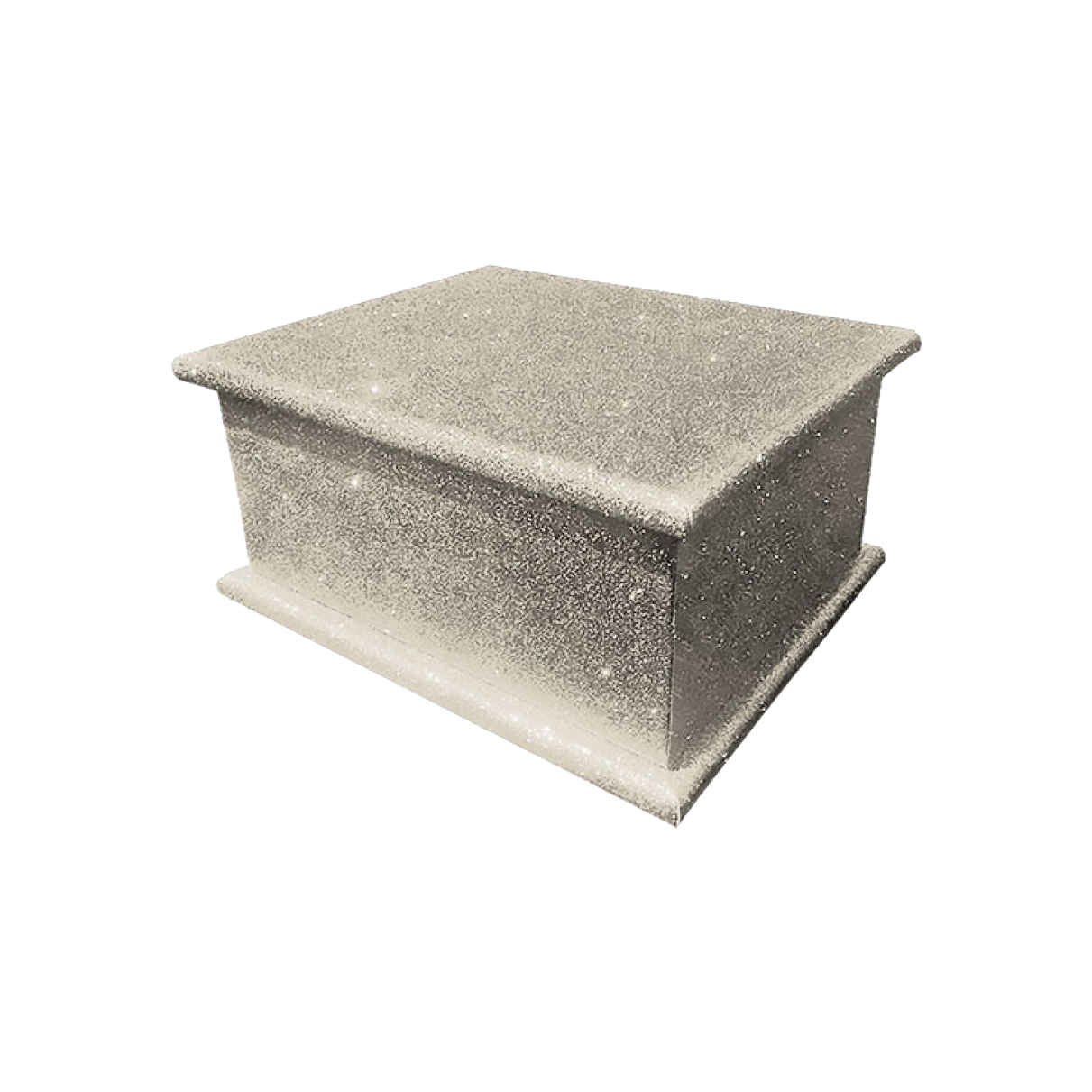 Glitter Adult Ashes Casket – Platinum