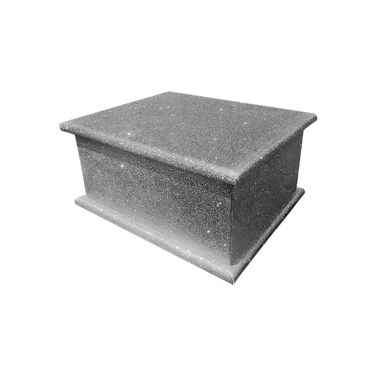 Glitter Adult Ashes Casket – Gun Metal Grey