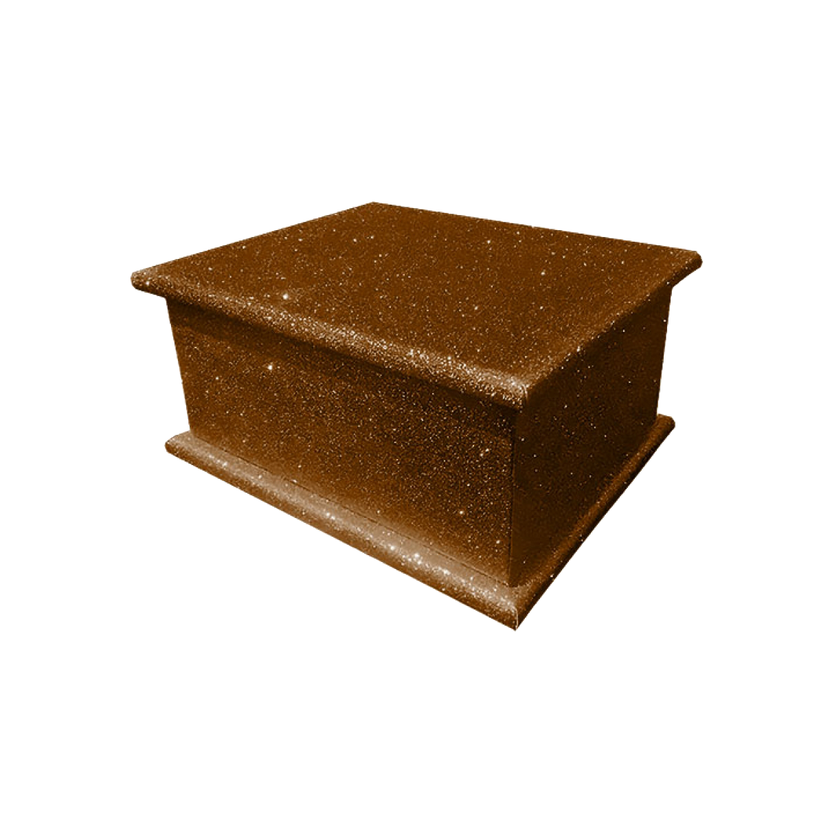 Glitter Adult Ashes Casket – Brown