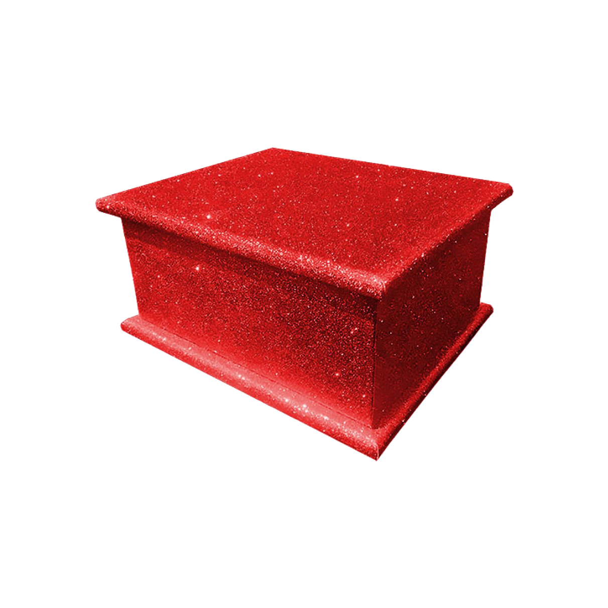 Glitter Adult Ashes Casket – Red