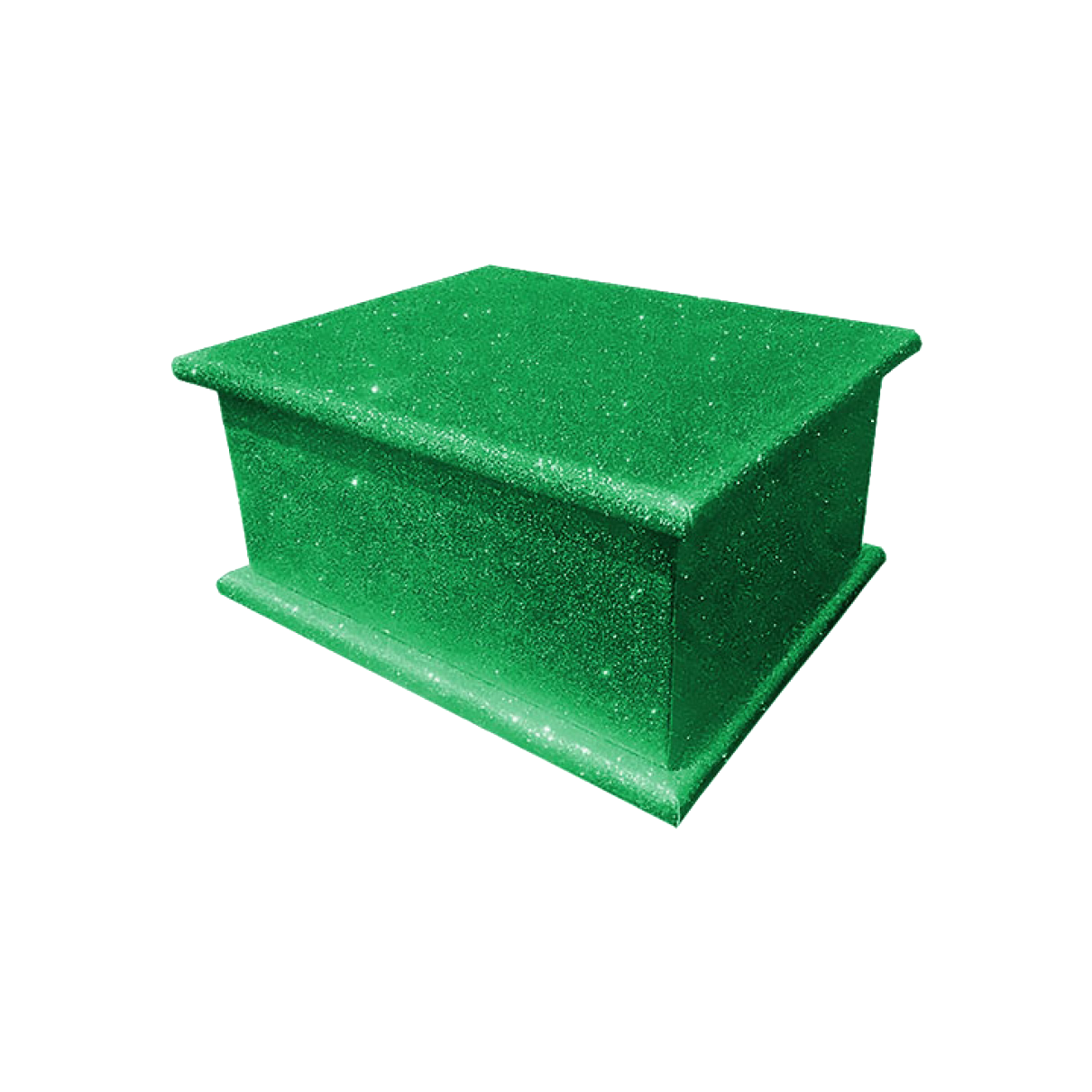 Glitter Adult Ashes Casket – Green