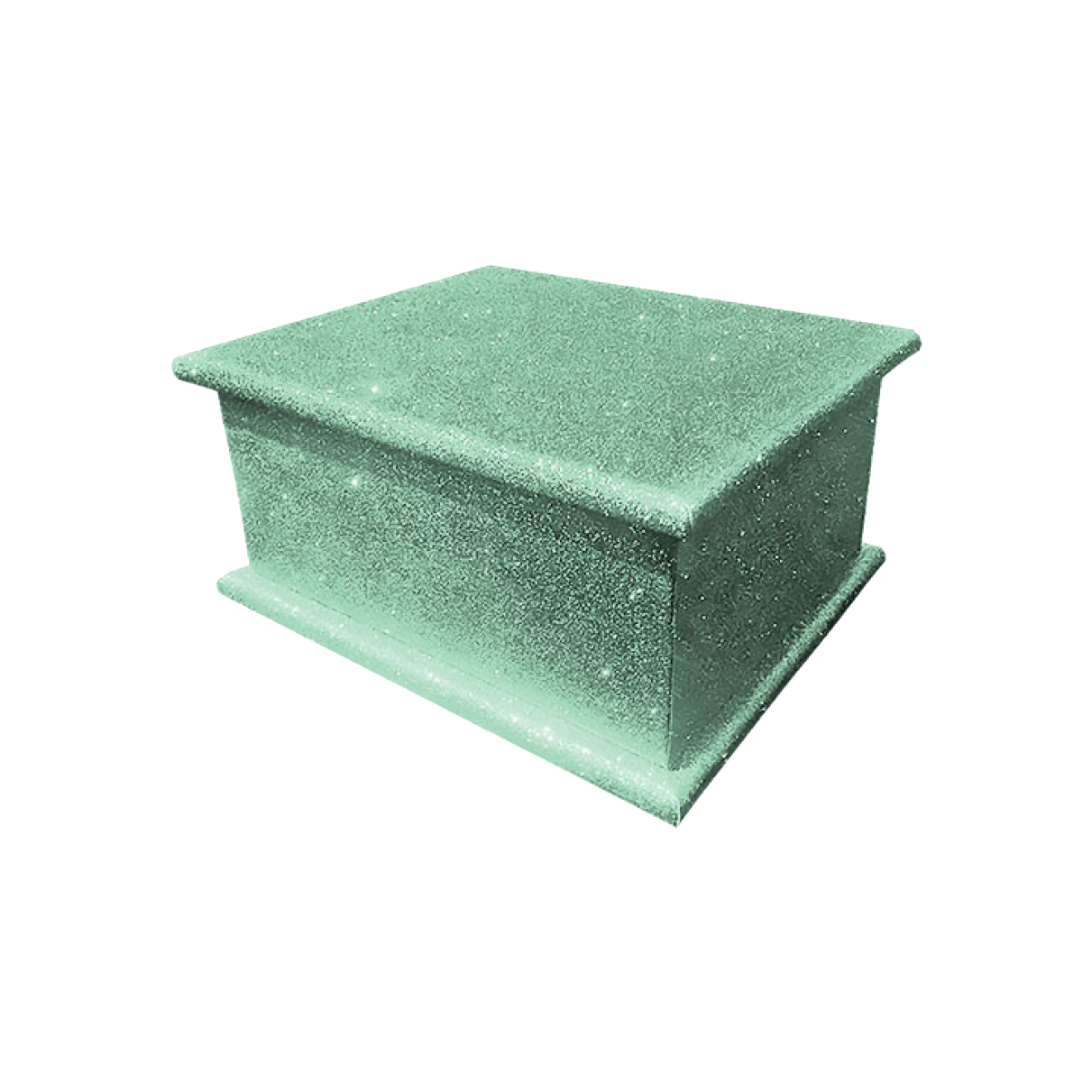 Glitter Adult Ashes Casket – Disco Green