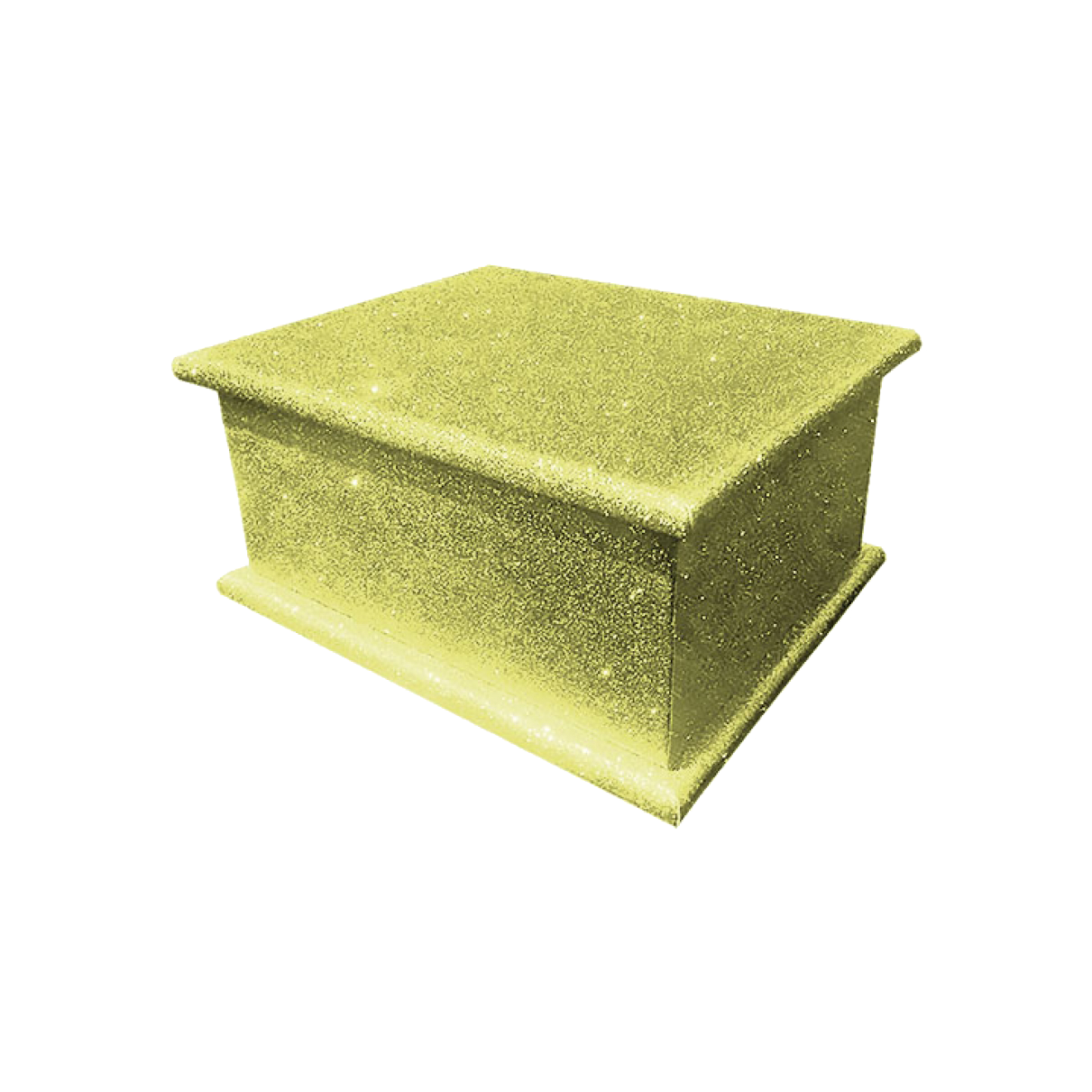 Glitter Adult Ashes Casket – Disco Yellow